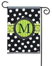 Monogram Garden Flag - Letter M