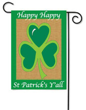 Applique St. Patrick's Day Garden Flag