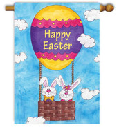 Easter decorative house flag