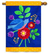 Deluxe applique house flag