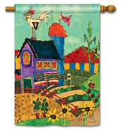 Decorative House Flag by Stephanie Burgess