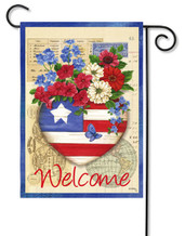 "Patriotic Memories Garden Flag - 12.5"" x 18"" - 2 Sided Message"