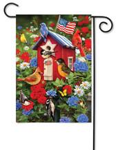 Patriotic garden flag