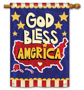 BreezeArt patriotic house flag
