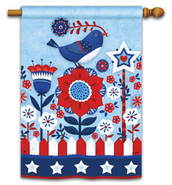 "Freedom Fence House Flag by BreezeArt - 28"" x 40"""