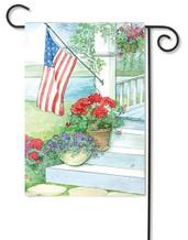 Toland patriotic garden flag