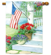 Toland patriotic house flag