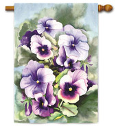 Toland spring pansies house flag
