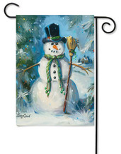 Outdoor winter garden flag