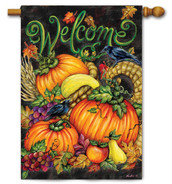 Decorative fall house flag