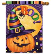 Decorative outdoor Halloween house flag