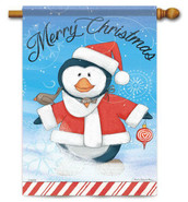 Decorative outdoor Christmas Penguin flag by Flag Trends