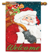 Welcome Santa Christmas house flag by Flag Trends