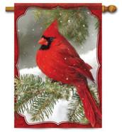 Cardinal decorative outdoor house flag