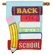 Back to School House Flag