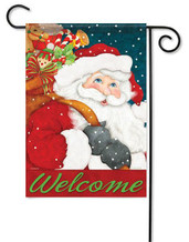 Welcome Santa Garden Flag by Flag Trends