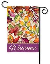 Welcome garden flag