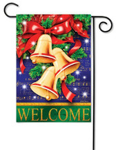 Outdoor Christmas garden flag