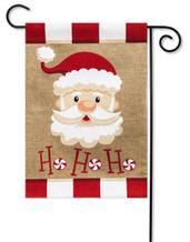 Burlap Christmas garden flag