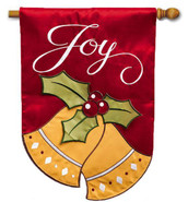 Applique Christmas House Flag