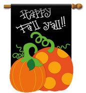 Fall applique house flag