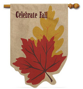 Fall decorative house flag