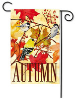 "Fall Feast Garden Flag - 12.5"" x 18"" - 2 Sided Message - Evergreen"