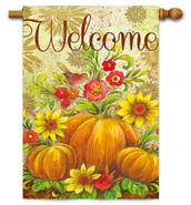 Decorative Evergreen fall house flag