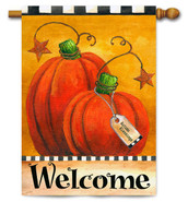 Fall outdoor house flag