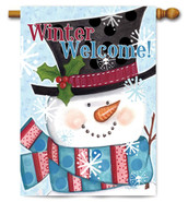 Winter outdoor house flag