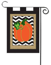 Burlap applique garden flag