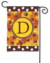 Monogram garden flag - Letter D
