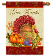 Toland Thanksgiving decorative house flag
