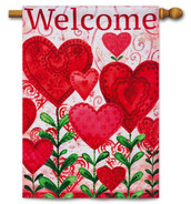 Valentine outdoor house flag