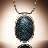 Leter Pang snakeskin pendant