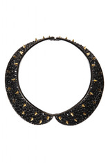 Louis Bitton Onyx and & gold choker
