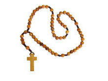 Plain wooden rosary