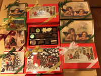 Holiday Greetings Gift Box - Chocolate Assortment - 12 or 16 pieces