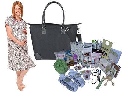 Posh Mama C-Section prepackaged Hospital Bag with Ella Gown