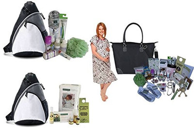 C-Section Essentials Mama Bag, Baby Bag & Female Labor Coach Bag Ultimate Bundle