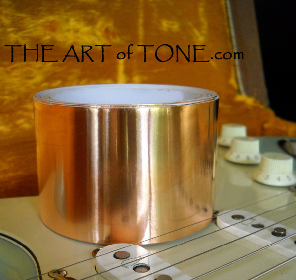 Copper Foil Tape 10 Foot X 2 Inch Roll - EMI Shielding for Strat's and other single pickup guitars