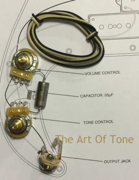 Wiring Kit - Fender Precision Bass - K40Y-9 .047uf@200 cap