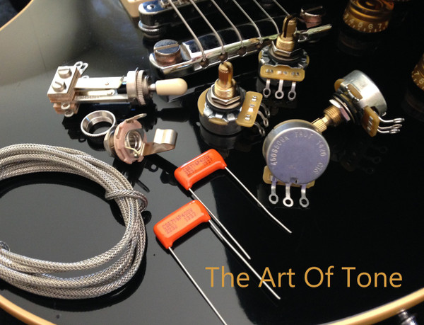 TAOT Gibson Les Paul Wiring Kit - Short Shaft - Orange Drop Caps  The Art Of Tone