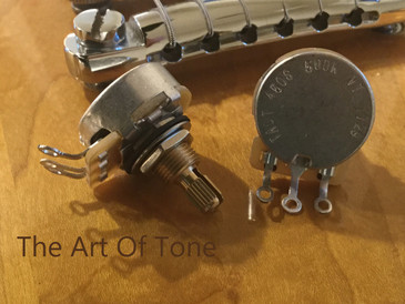 Pair 2X CTS TAOT CUSTOM 500K Vintage Audio Taper Short Split Shaft Pot - 10% Tolerance