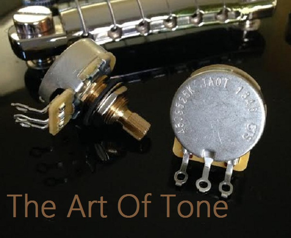 CTS Custom Spec'd 525K Short Split Shaft Audio Taper Pots 500K - 450G 450S Potentiometers 5% tolerance  The Art Of Tone