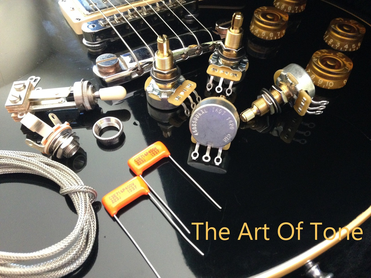 wiring kit gibson les paul long shaft cts taot 500kxl pots rh theartoftone com