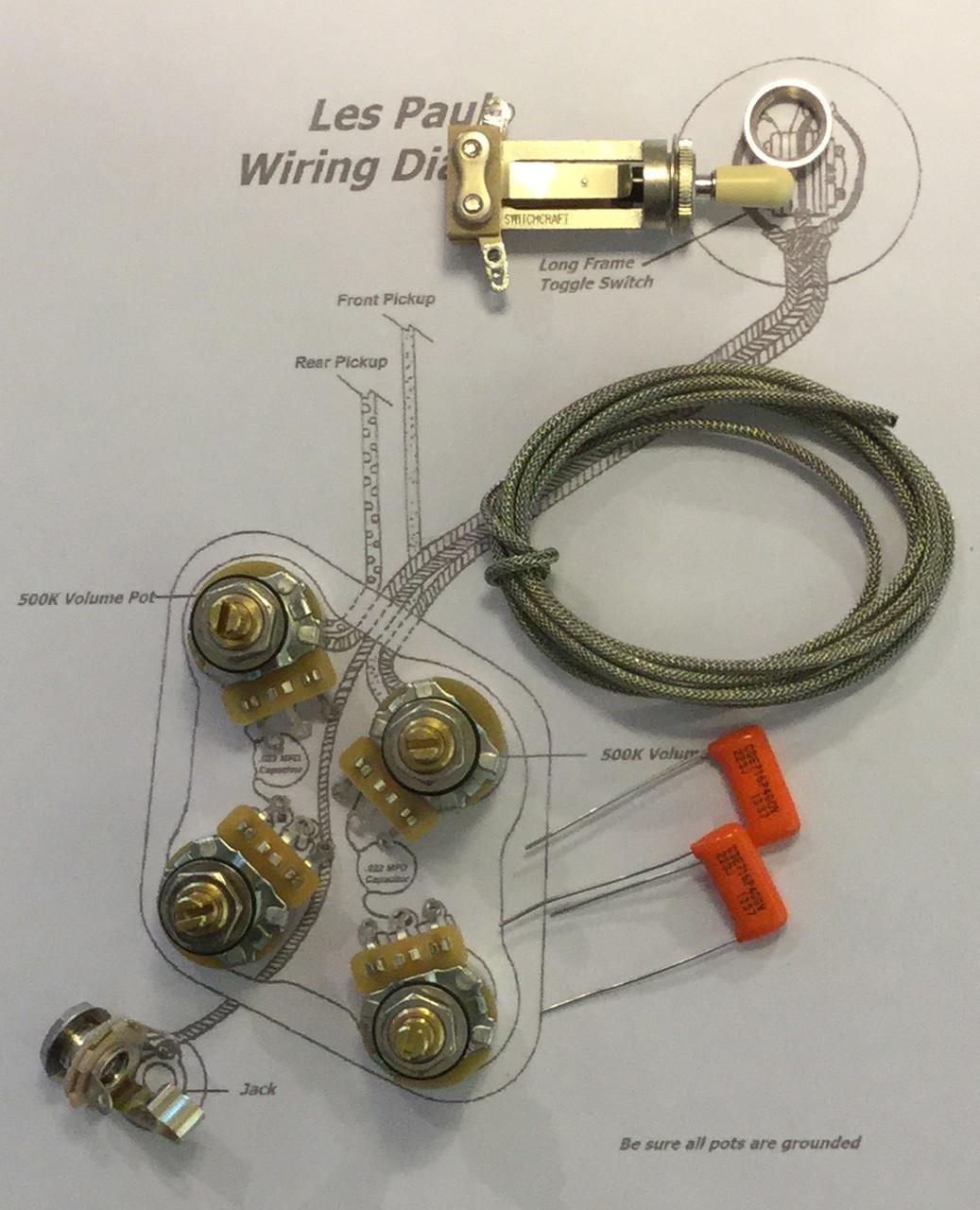 Wiring Kit Gibson Les Paul Long Shaft CTS TAOT