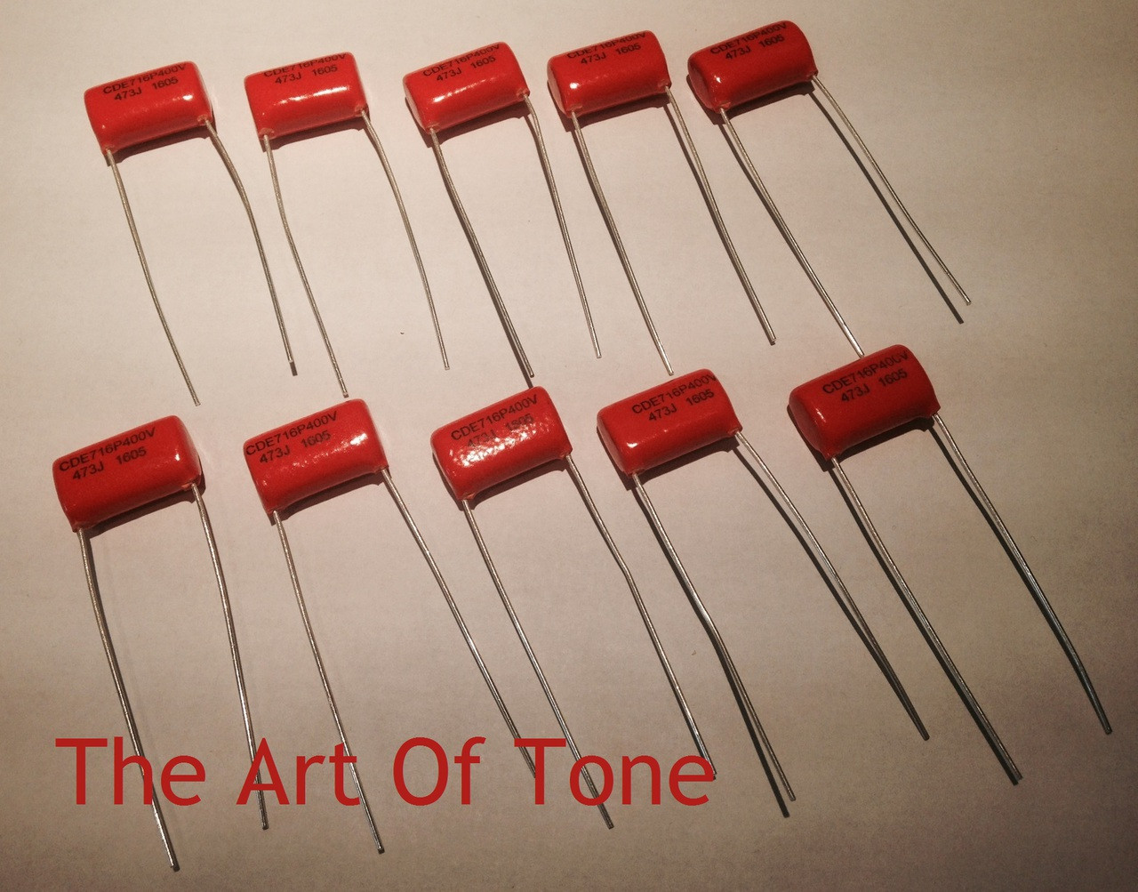 Bulk Lot of 10X - .047uf@400v Orange Drop 716P Capacitors