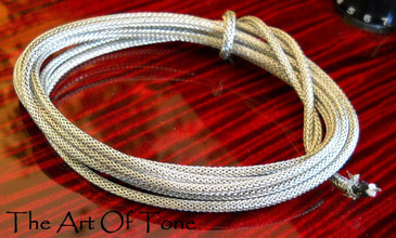 Vintage-style Braided Shield Hookup Wire for Guitars