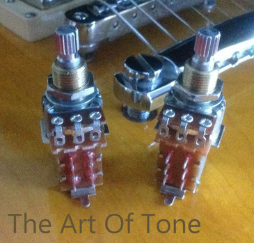 PAIR (2X) Bourns 500K Potentiometers - Short Split Shaft - Coarse Knurl - Push/Pull (DPDT)